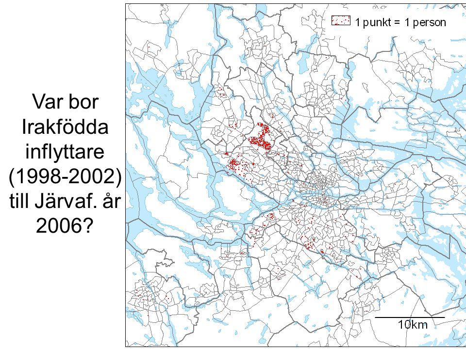 Var bor Irakfödda inflyttare (1998-2002) till Järvaf. år 2006?