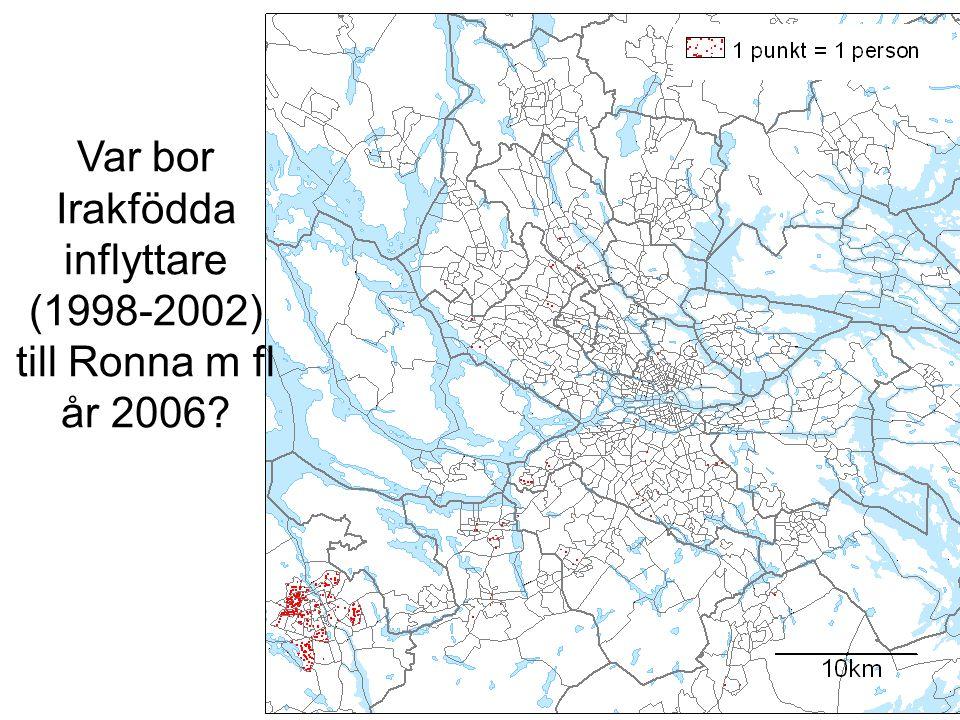 Var bor Irakfödda inflyttare (1998-2002) till Ronna m fl år 2006?