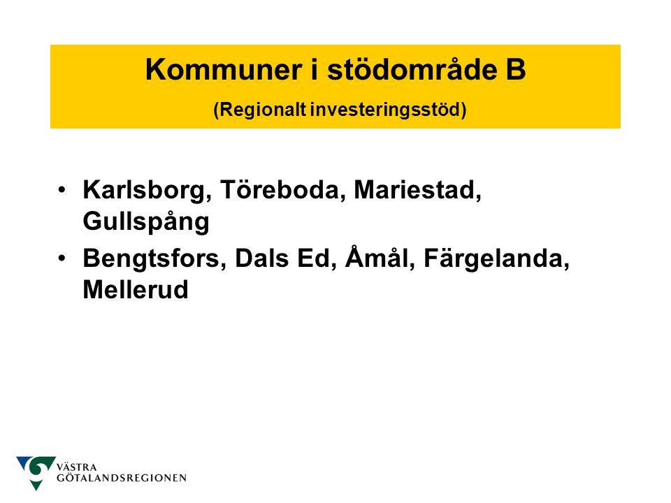 Regionalt bidrag till företagsutveckling •företag med max 249 anställda •max årsomsättning 50 miljoner Euro (ca 450 miljoner kronor) eller max balansomslutning 43 miljoner Euro (ca 390 miljoner kronor) •fristående eller till max 25 % ägda av företag som uppfyller kraven ovan