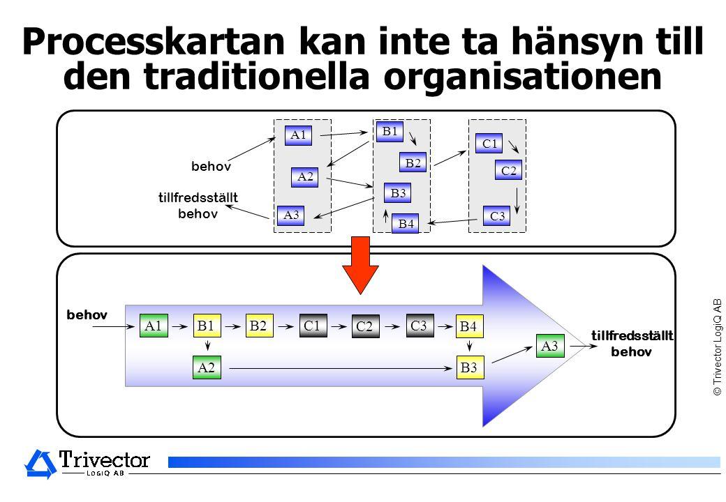 © Trivector LogiQ AB det interna synsättet är detsamma som kundens synsätt Processorienterad verksamhet - fokus på helheten Funktion
