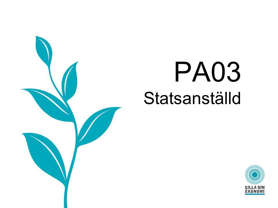 PA03 Statsanställd