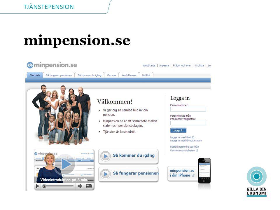 TJÄNSTEPENSION minpension.se
