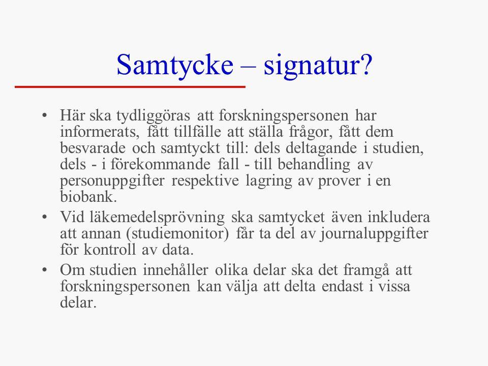 Samtycke – signatur.