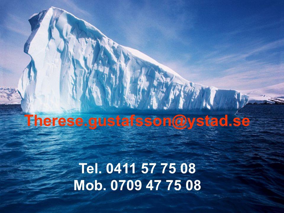 Therese.gustafsson@ystad.se Tel. 0411 57 75 08 Mob. 0709 47 75 08