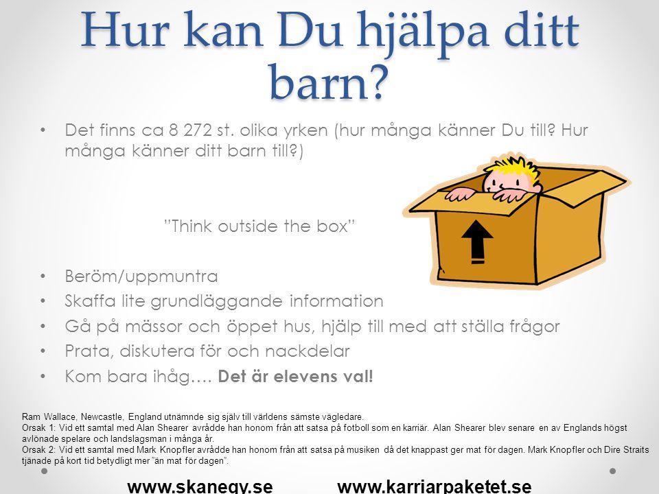 Hur kan Du hjälpa ditt barn.• Det finns ca 8 272 st.