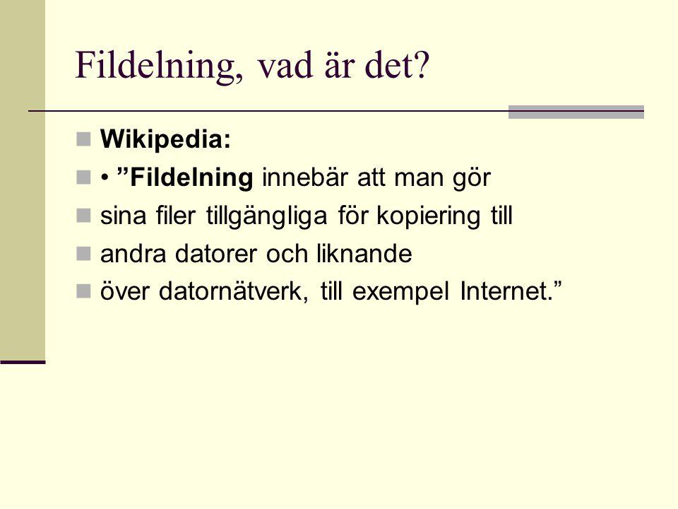 Fildelning, vad är det.