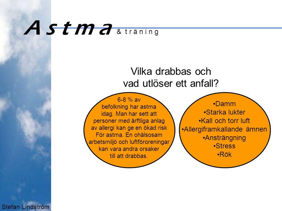 Stefan Lindström A s t m a & t r ä n i n g Vilka drabbas och vad utlöser ett anfall.