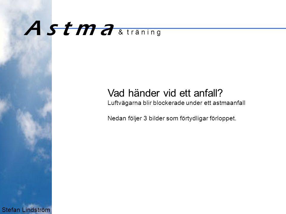 Stefan Lindström A s t m a & t r ä n i n g 1 Vad händer vid ett anfall.