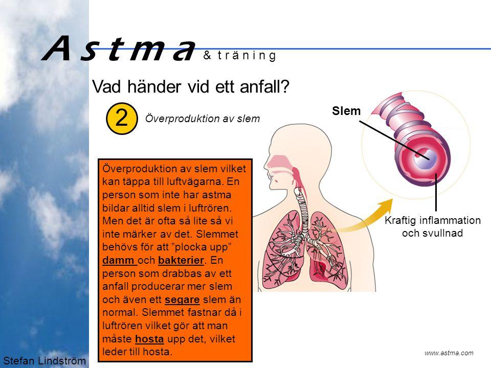 Stefan Lindström A s t m a & t r ä n i n g 3 Vad händer vid ett anfall.