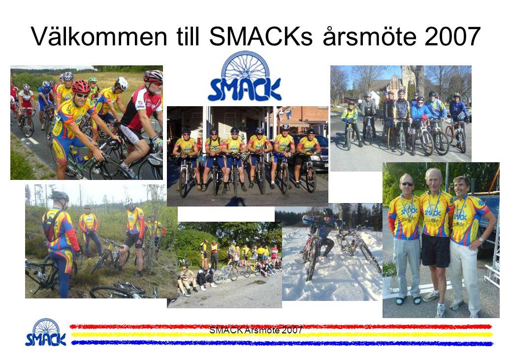 SMACK Årsmöte 2007 Träningsläger MTB och Lvg 2007 Träningsläger för både MTB och Lvg planeras att genomföras i mitten/slutet av maj i Brunnsvik, Ludvika.
