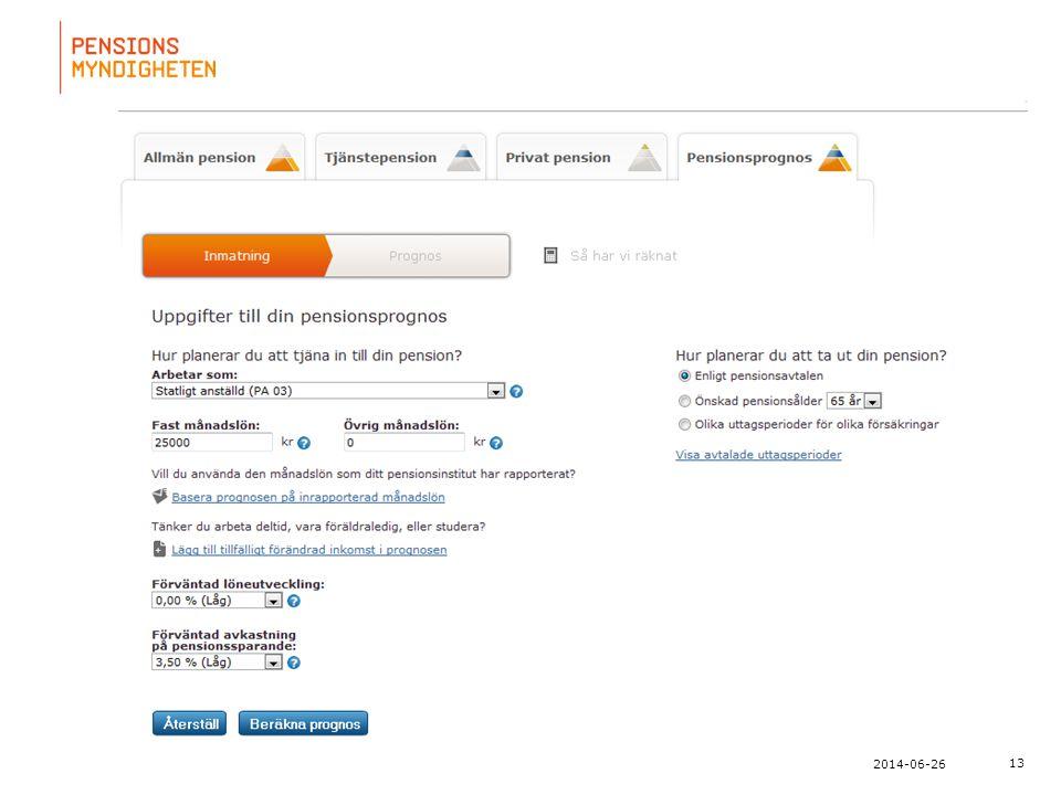 För att uppdatera sidfotstexten, gå till menyn: Visa/Sidhuvud och sidfot... 13 2014-06-26
