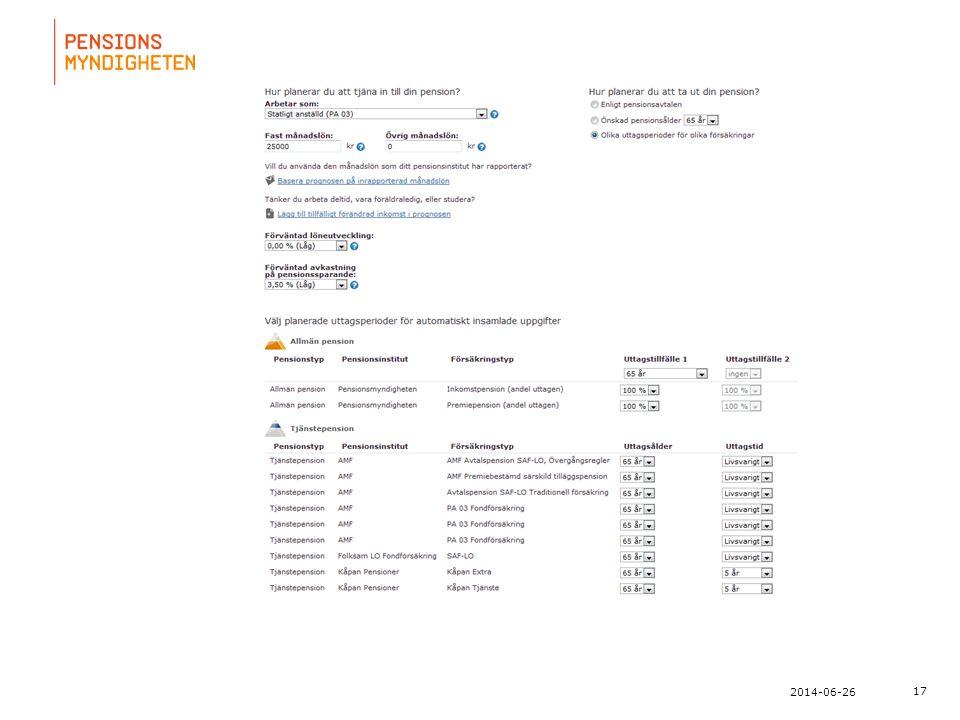 För att uppdatera sidfotstexten, gå till menyn: Visa/Sidhuvud och sidfot... 17 2014-06-26