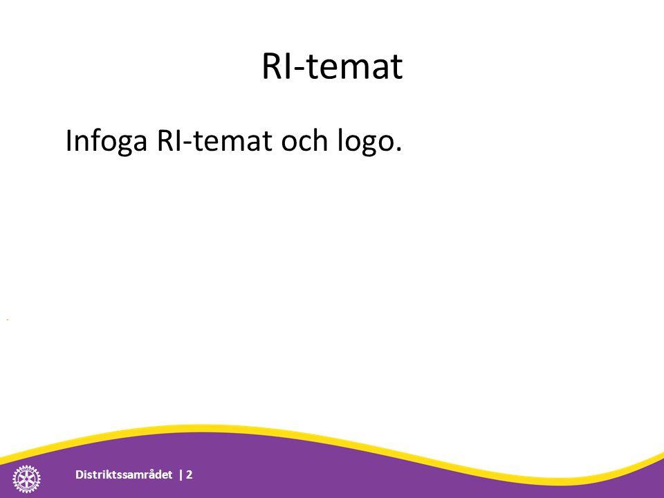 RI-temat Infoga RI-temat och logo. Distriktssamrådet | 2