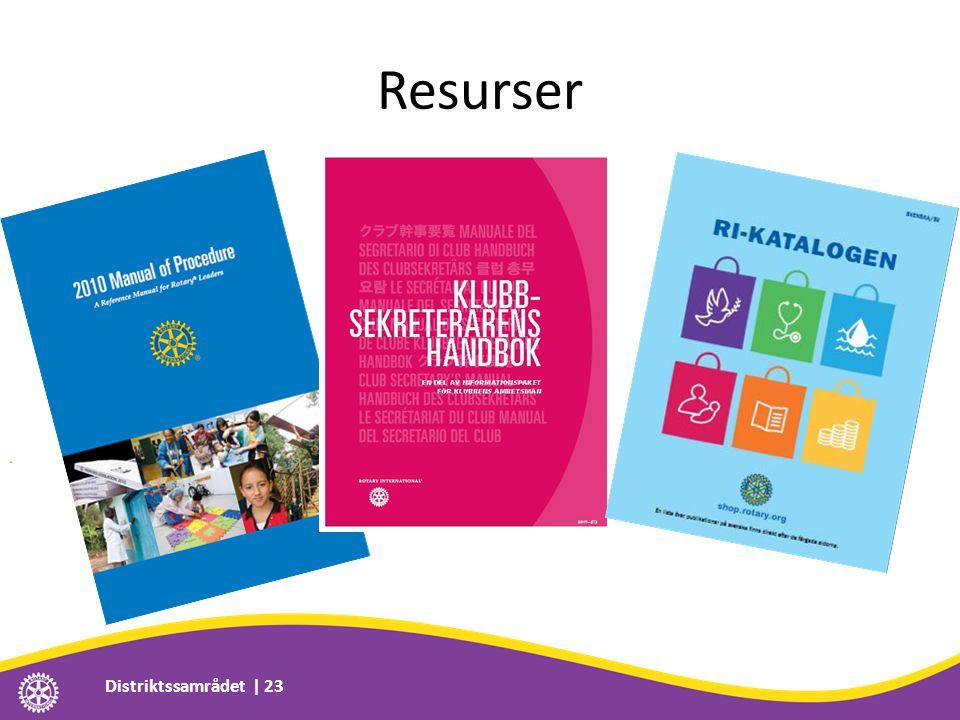 Resurser Distriktssamrådet | 23