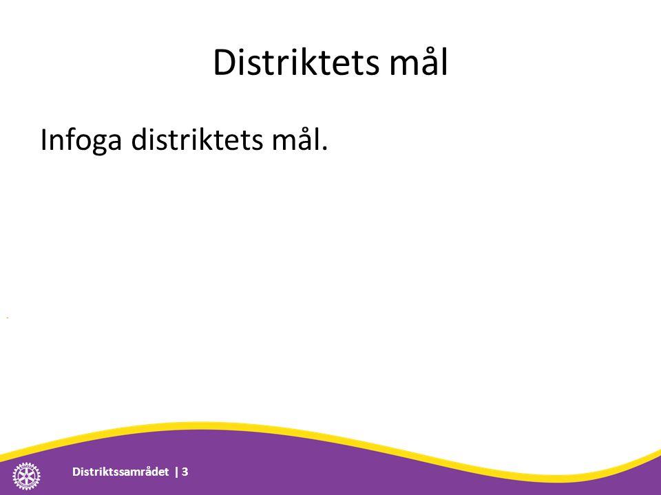 Distriktets mål Infoga distriktets mål. Distriktssamrådet | 3