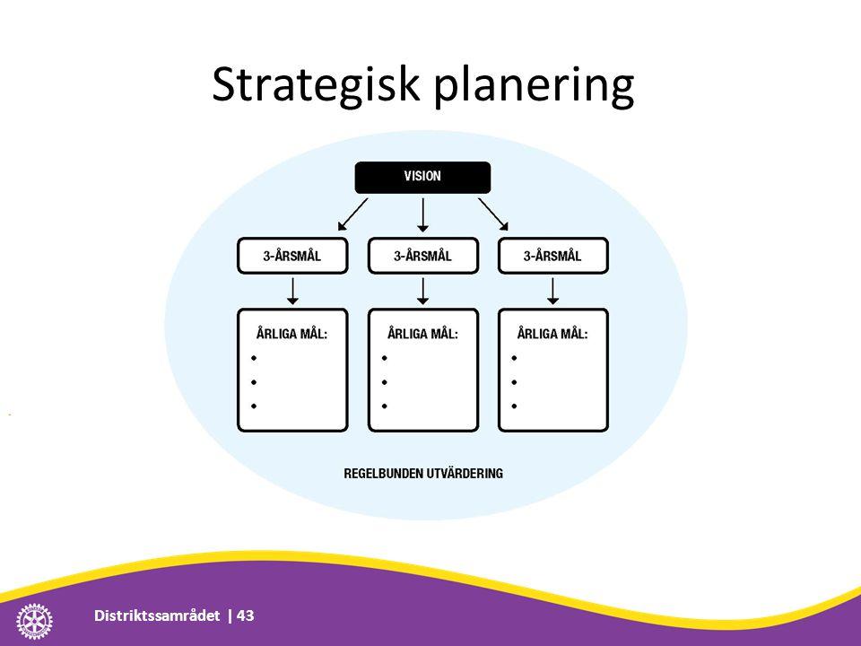 Strategisk planering Distriktssamrådet | 43