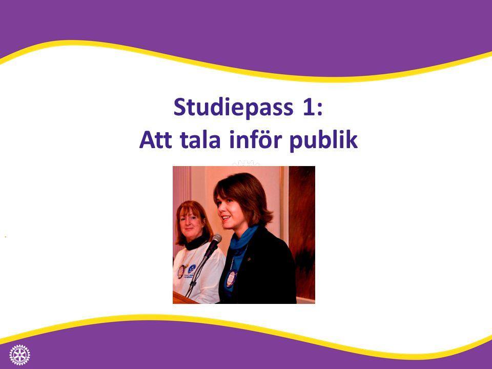 Studiepass 1: Att tala inför publik