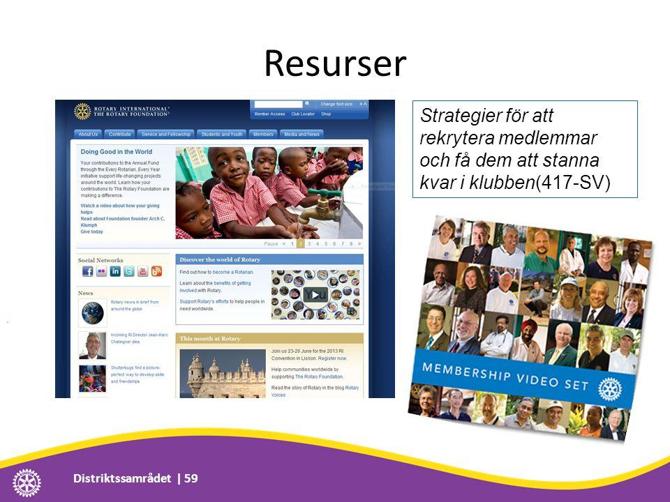 Resurser Distriktssamrådet | 59 Strategier för att rekrytera medlemmar och få dem att stanna kvar i klubben(417-SV)