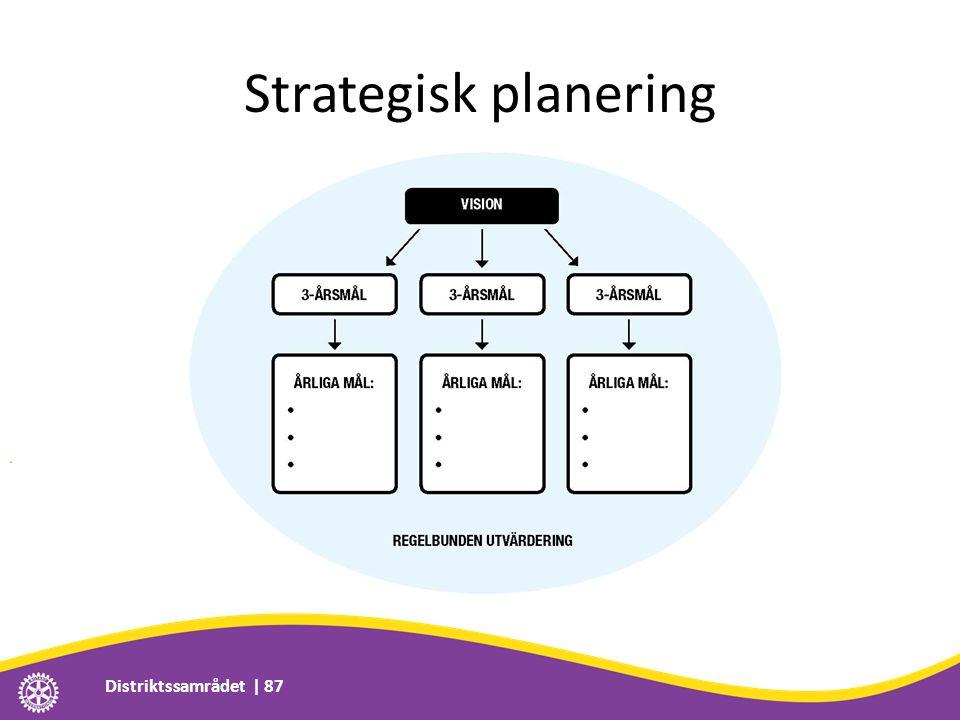 Strategisk planering Distriktssamrådet | 87