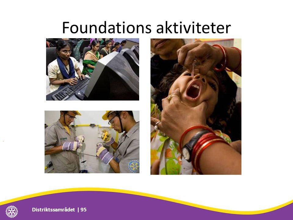 Foundations aktiviteter Distriktssamrådet | 95