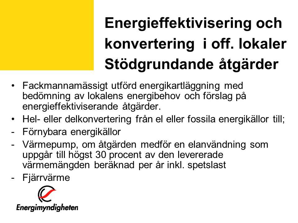 Energieffektivisering och konvertering i off.