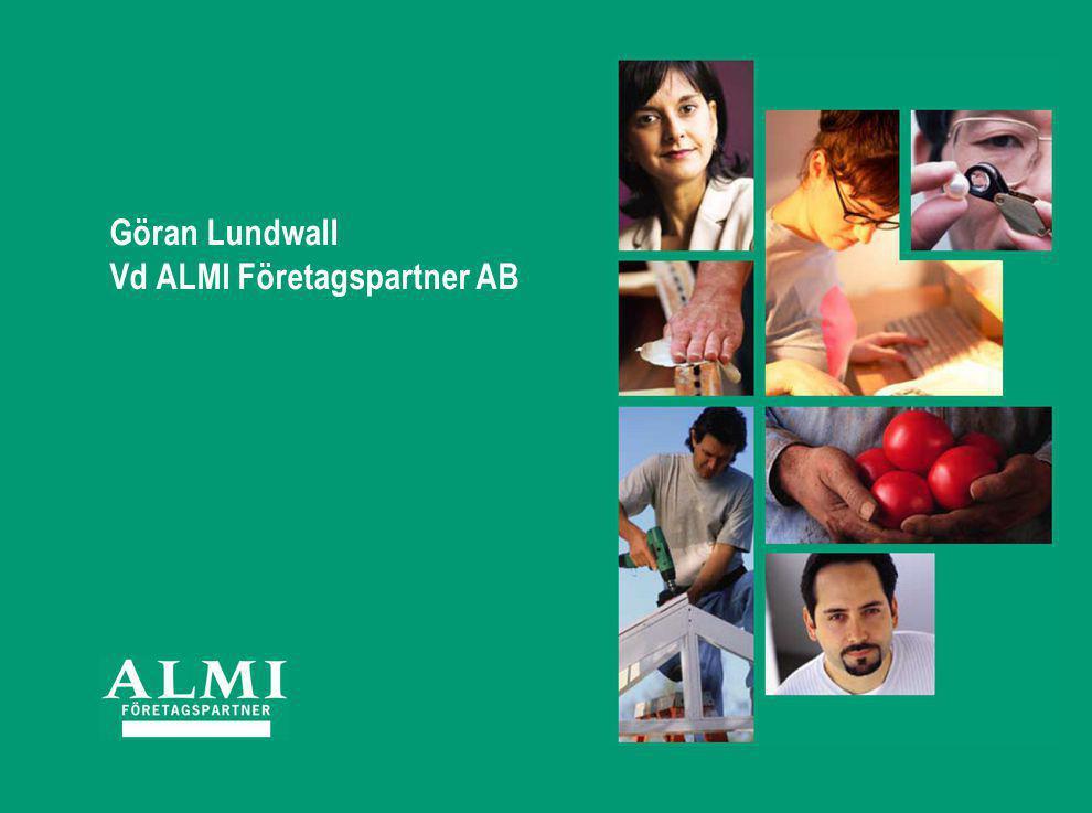 Göran Lundwall Vd ALMI Företagspartner AB