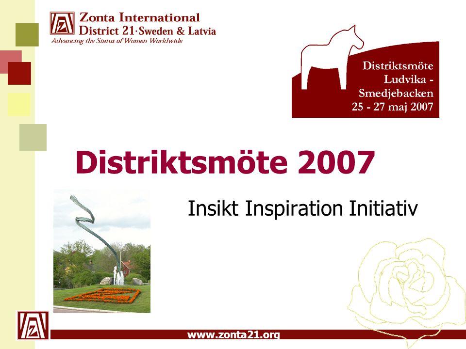 www.zonta21.org Distriktsmöte 2007 Insikt Inspiration Initiativ