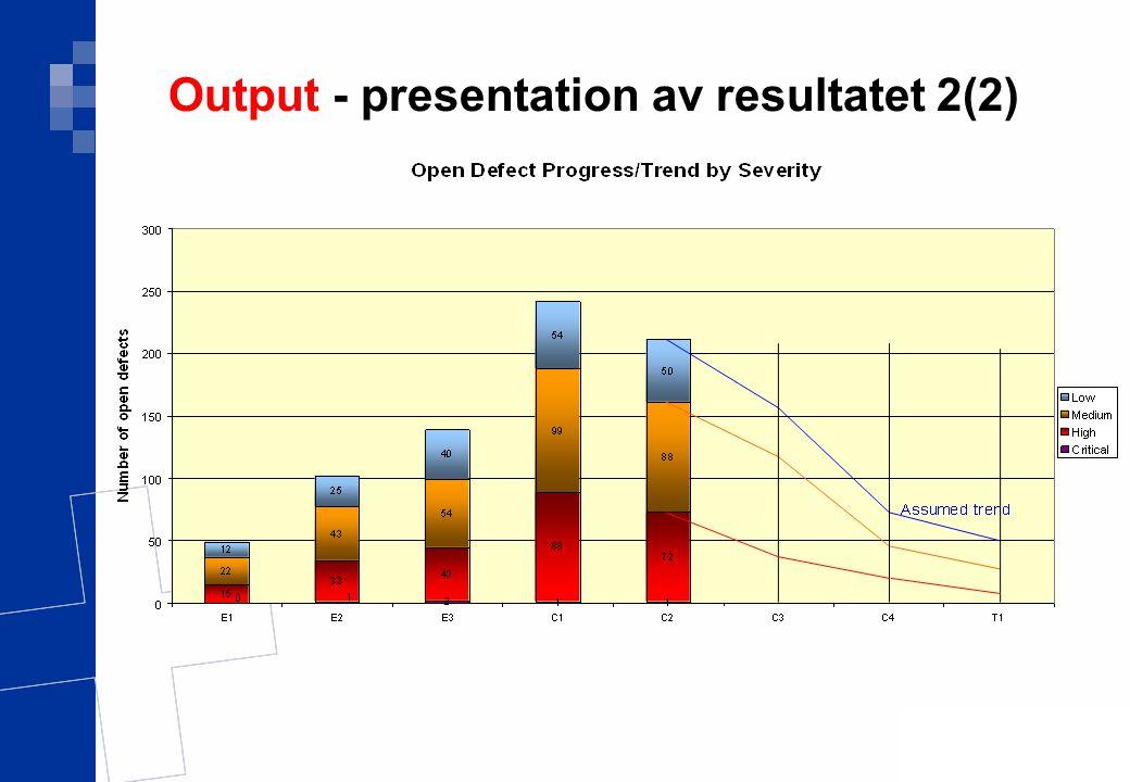 Ver 1.0 18(17) Output - presentation av resultatet 2(2)