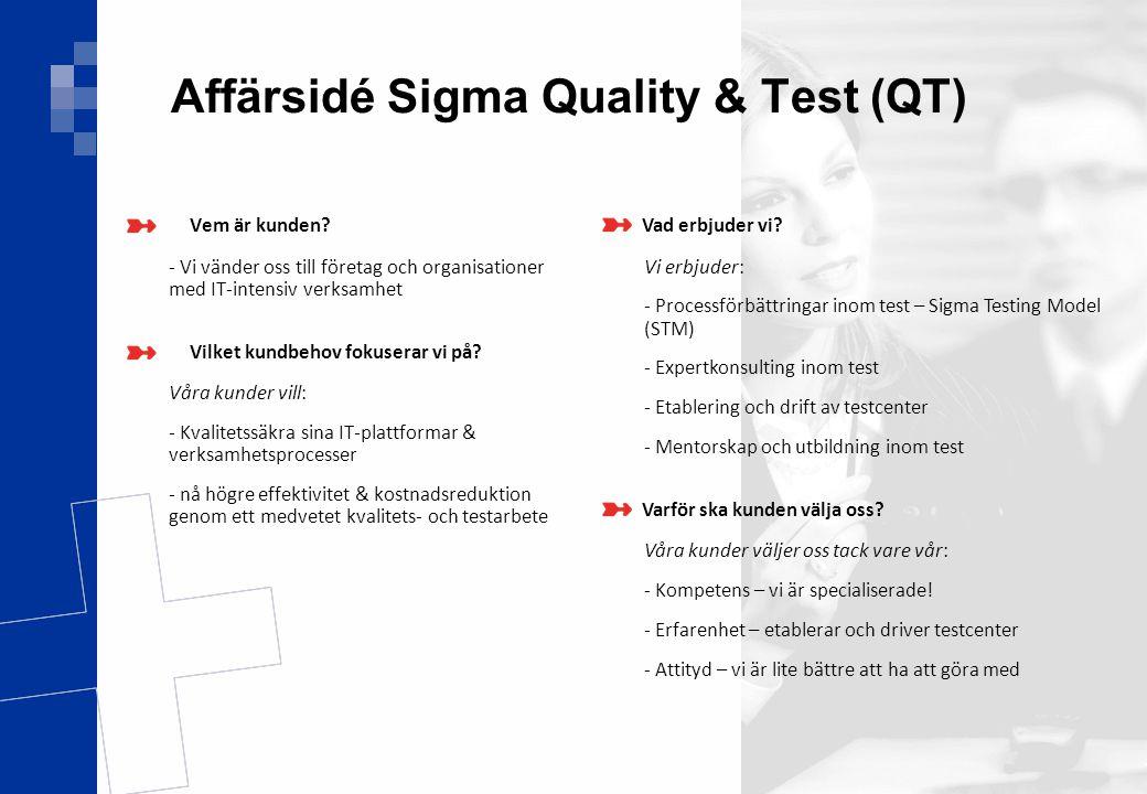 Ver 1.0 4(17) Affärsidé Sigma Quality & Test (QT) Vem är kunden? - Vi vänder oss till företag och organisationer med IT-intensiv verksamhet Vilket kun