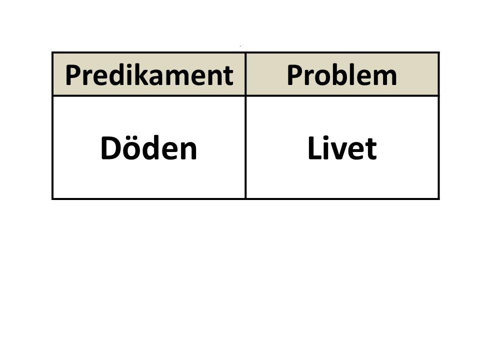 . PredikamentProblem DödenLivet