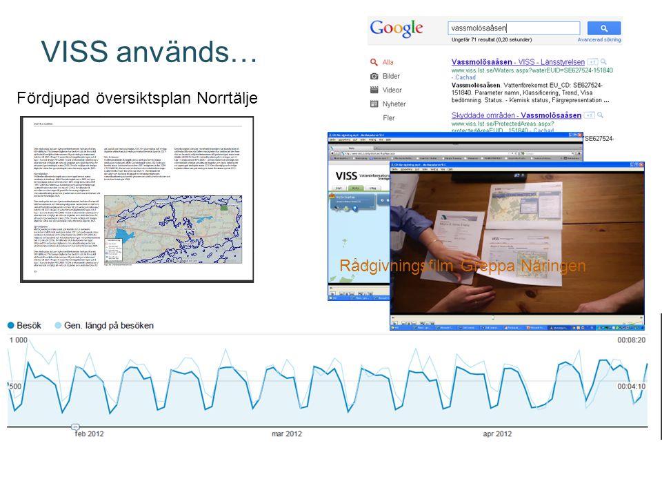 VISS används… Fördjupad översiktsplan Norrtälje Rådgivningsfilm Greppa Näringen