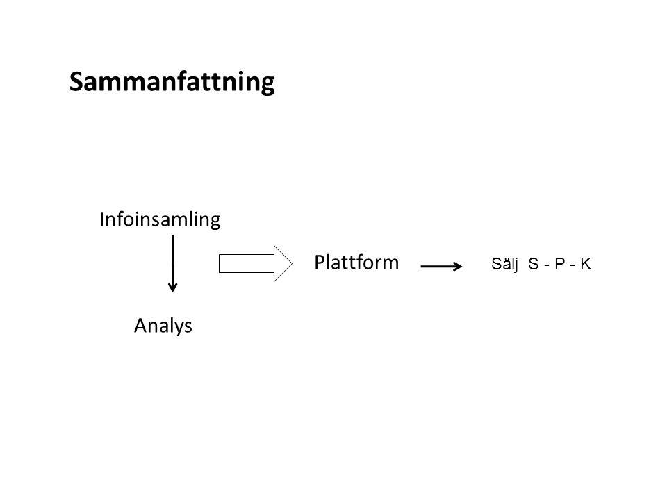 Sammanfattning Infoinsamling Analys Plattform Sälj S - P - K