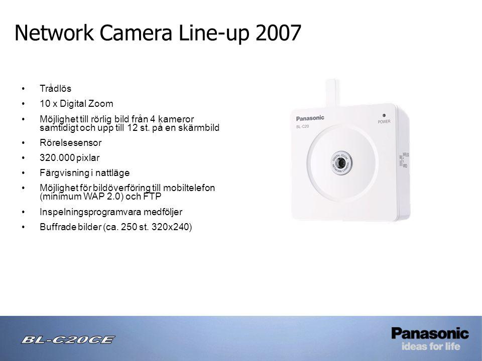 • Trådlös • 10 x Digital Zoom • Möjlighet till rörlig bild från 4 kameror samtidigt och upp till 12 st.