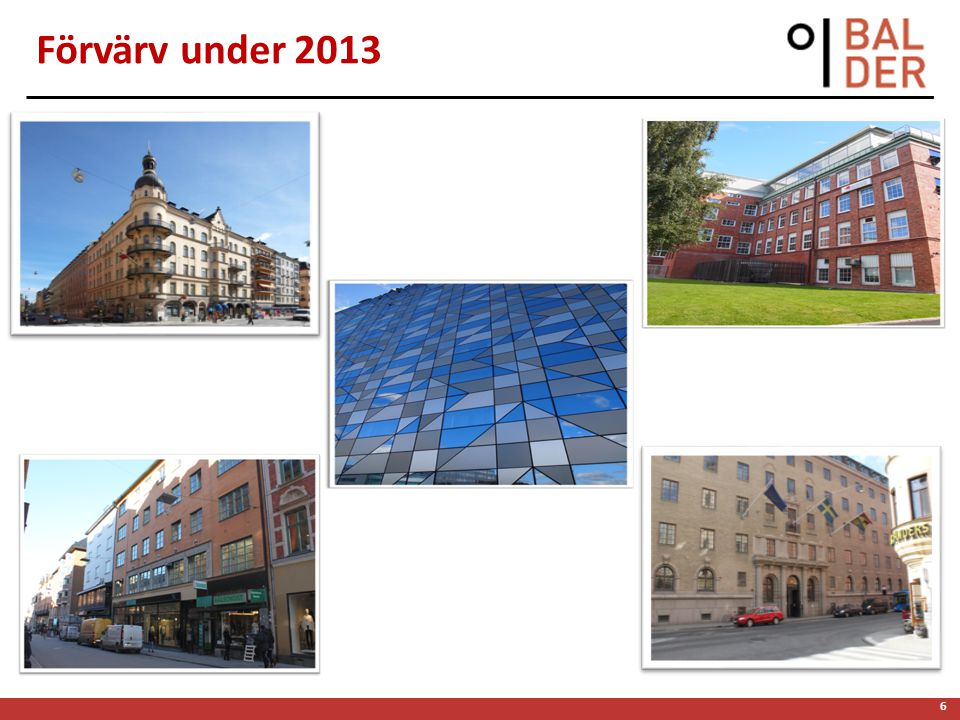 6 Förvärv under 2013