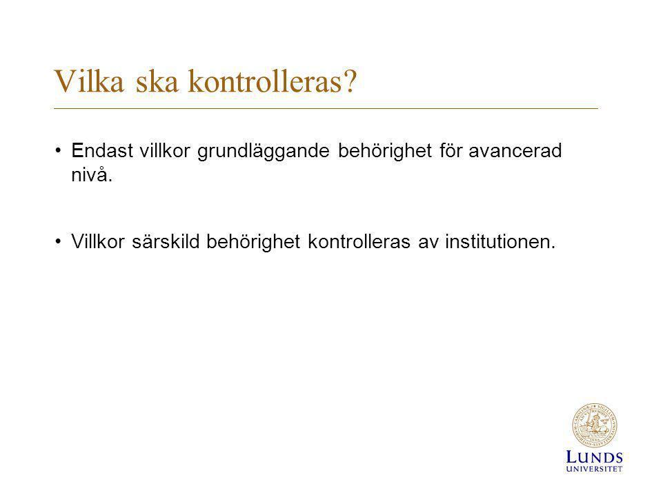 Svensk kandidatexamen •De som har en kandidatexamen från Sverige behöver inte visa upp examensbevis.