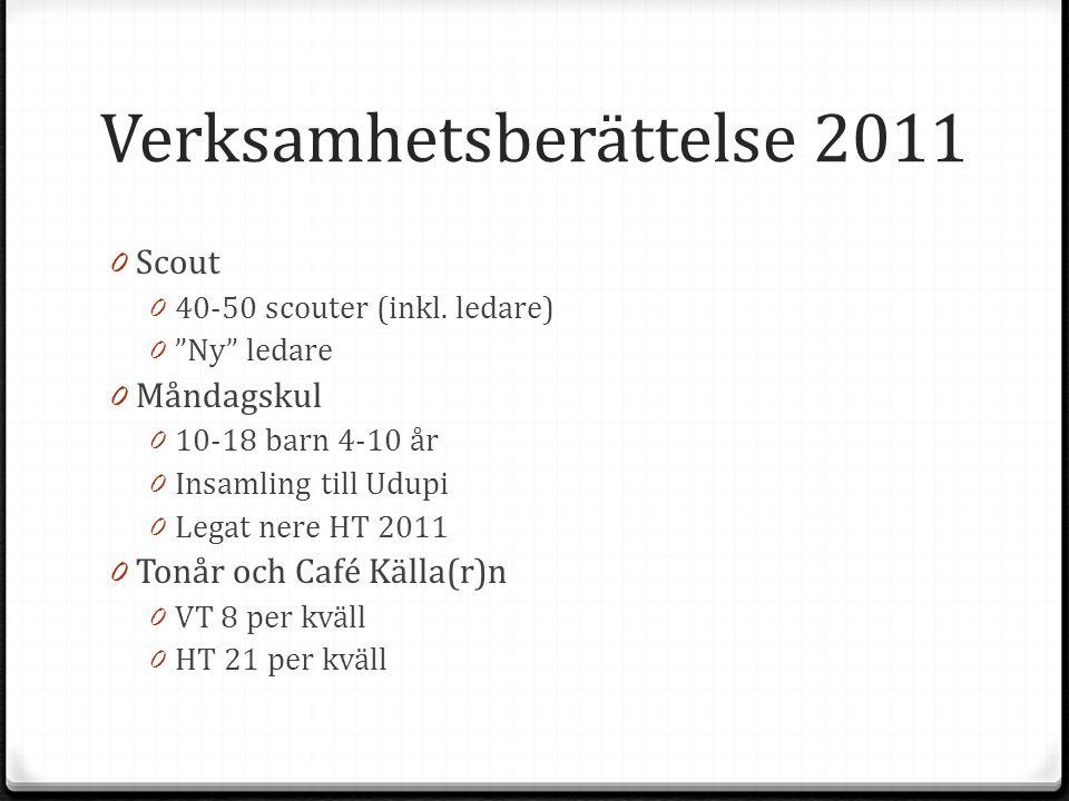 Verksamhetsberättelse 2011 0 Scout 0 40-50 scouter (inkl.