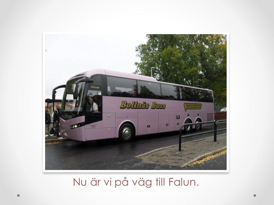 På väggen finns Järnvitriol. Den används till Falu Rödfärg. Om ca 200 år tar den slut.