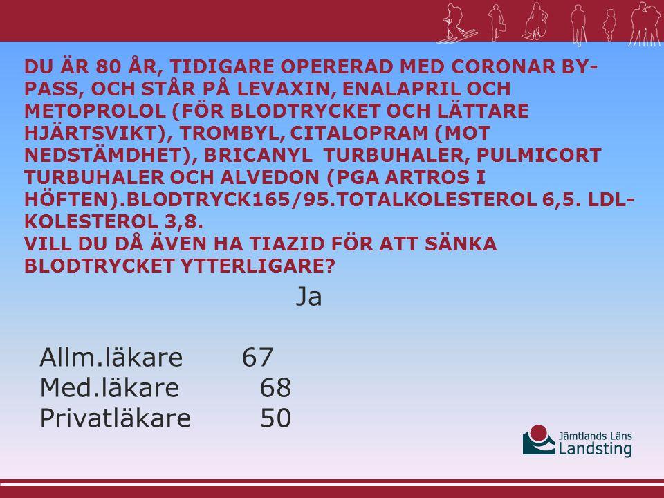 Ja Allm.läkare67 Med.läkare68 Privatläkare50
