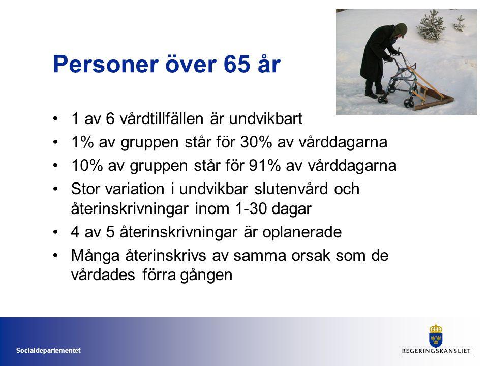 Socialdepartementet God vård vid demenssjukdom •Ca 150 000 personer i Sverige •Årligen insjuknar 24 000 personer •Går ej att bota •Tidig diagnos innebär rätt omvårdnad och rätt medicinska insatser •Kan klara sig i eget boende längre •Bättre välbefinnande