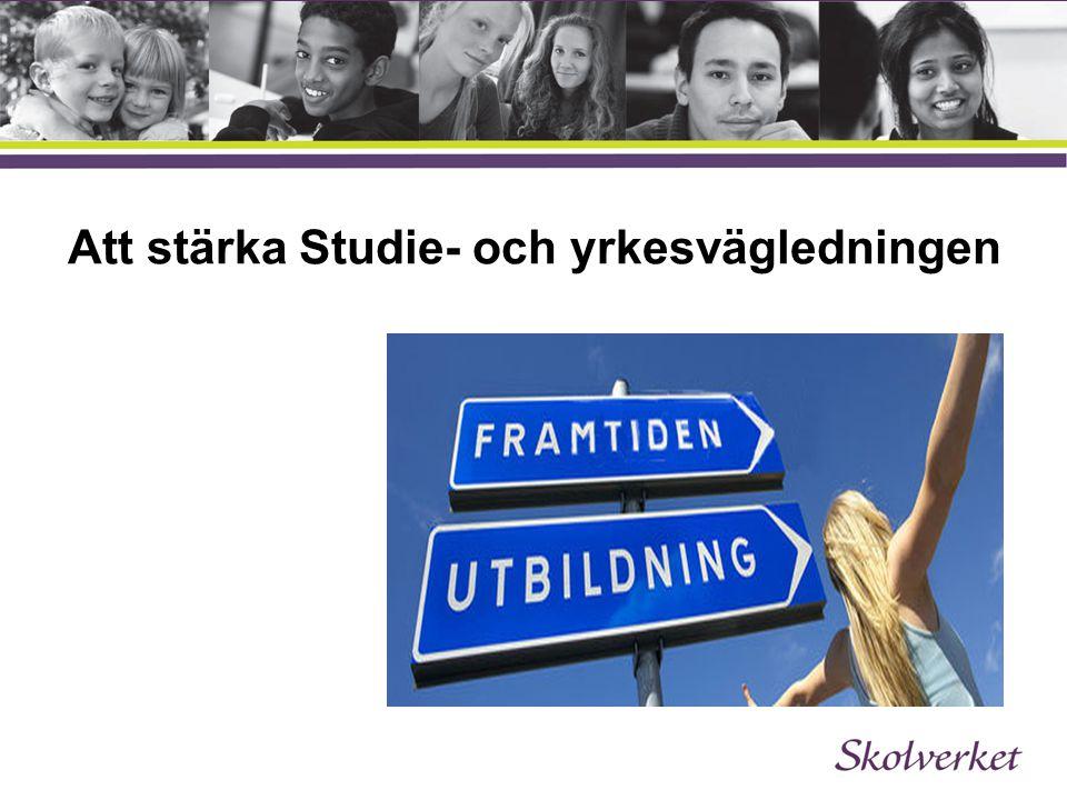 Att stärka Studie- och yrkesvägledningen