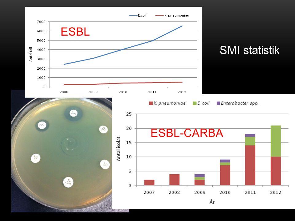 ESBL-CARBA ESBL SMI statistik