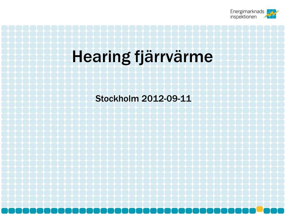 Hearing fjärrvärme Stockholm 2012-09-11