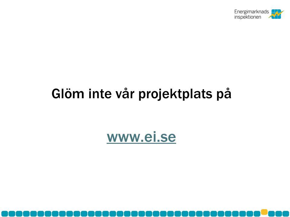 Glöm inte vår projektplats på www.ei.se