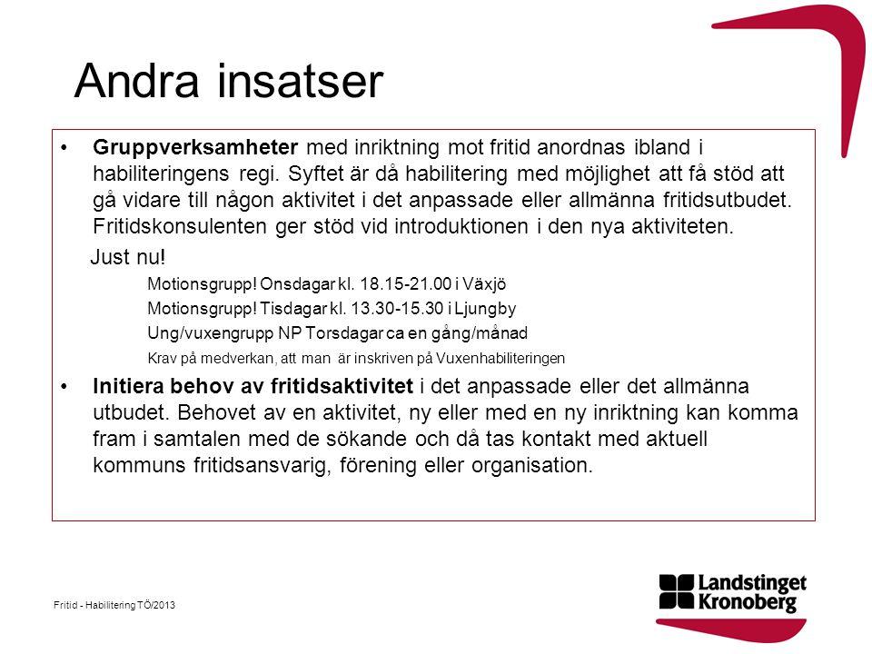 Fritid - Habilitering TÖ/2013