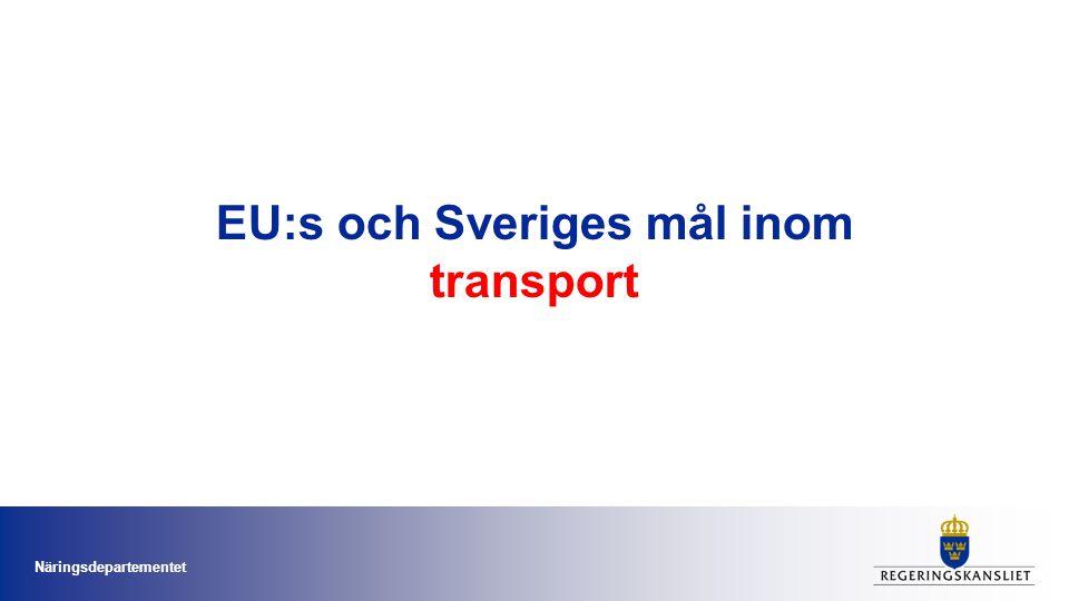 EU:s och Sveriges mål inom transport Näringsdepartementet