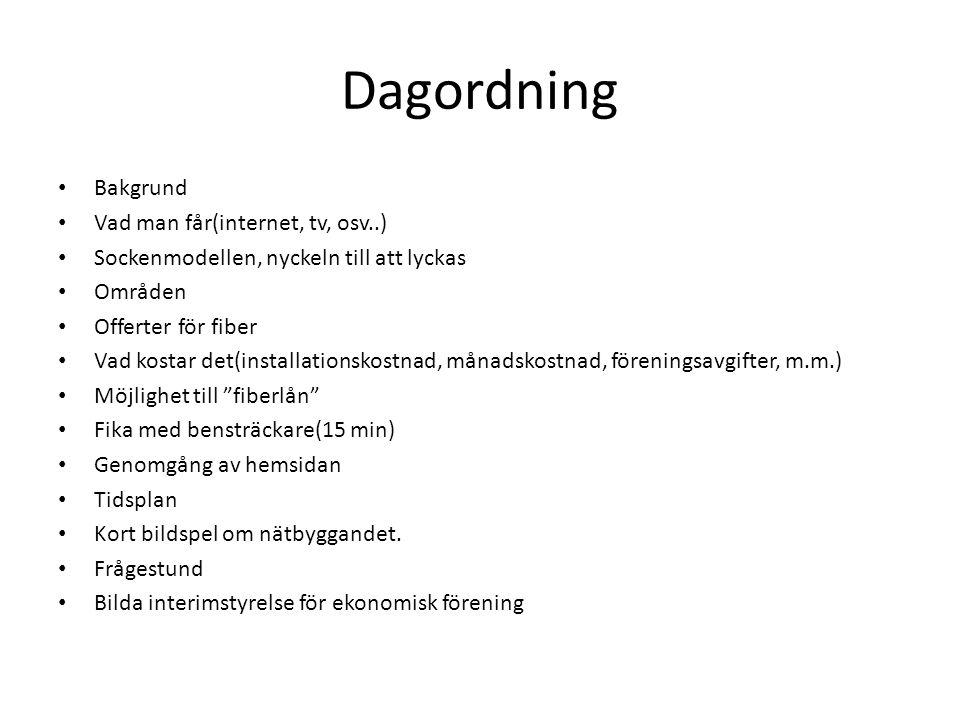 Bakgrund • Pilotprojekt på Gotland med LRF, Leader och Telia i Väte-Hejde och Grötlingbo-sockar år 2008.
