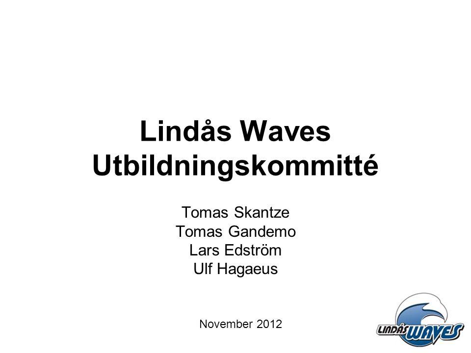 Lindås Waves Utbildningskommitté Tomas Skantze Tomas Gandemo Lars Edström Ulf Hagaeus November 2012