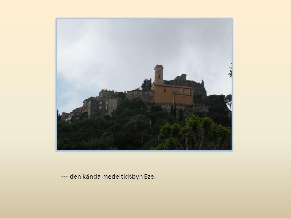 --- den kända medeltidsbyn Eze.