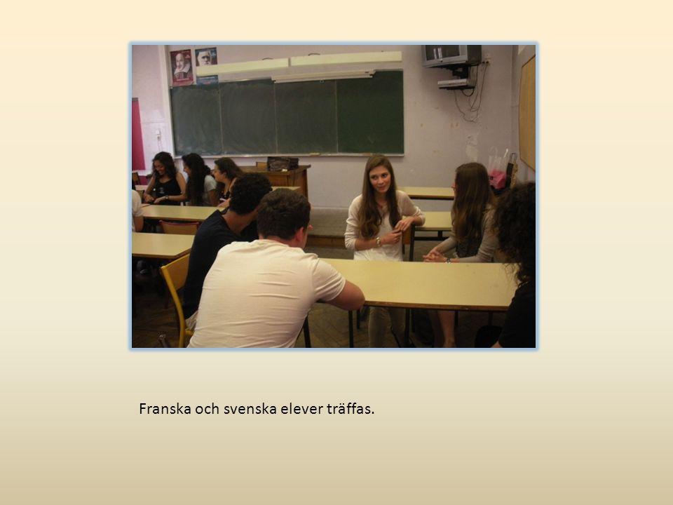 Franska och svenska elever träffas.