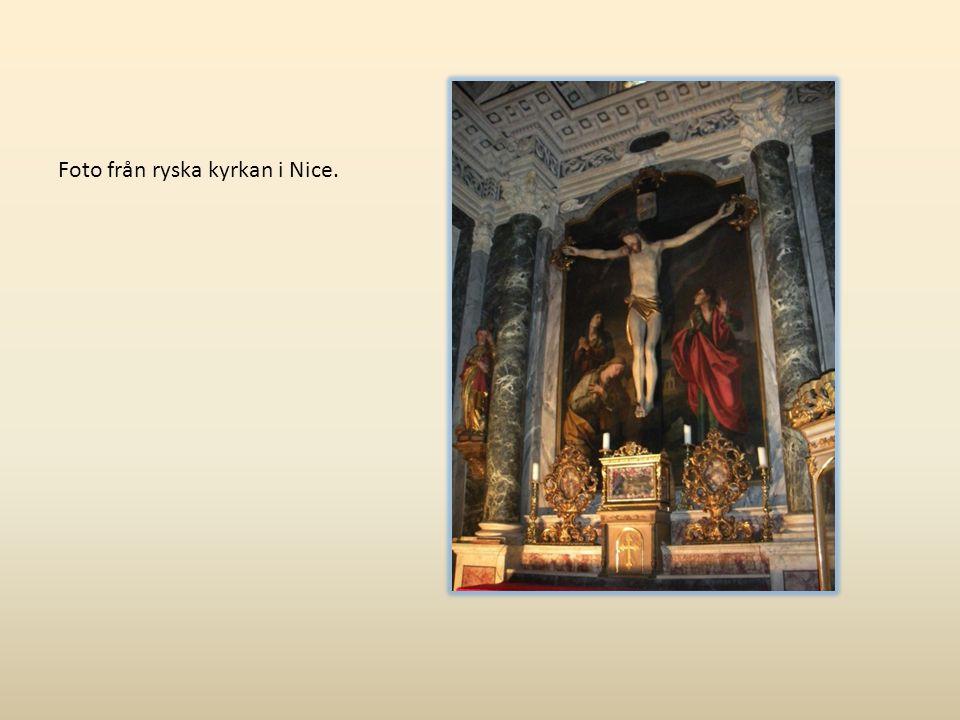 Foto från ryska kyrkan i Nice.